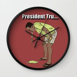 Trump Vomit Wall Clock