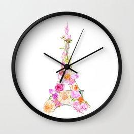 Paris in Bloom Wall Clock