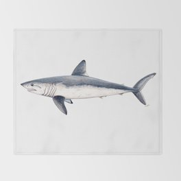 Porbeagle shark (Lamna nasus) Throw Blanket