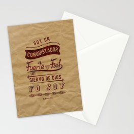 Conqui Fuerte y fiel Stationery Cards