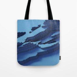 blue cubes  Tote Bag
