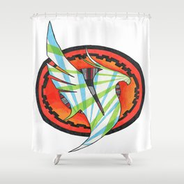 Illenium Black Shower Curtain