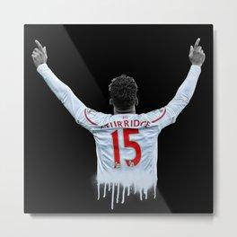 Liverpool FC: Daniel Sturridge v2 Metal Print