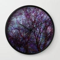 artsy Wall Clocks featuring artsy tree by Stephanie Koehl
