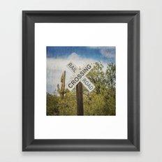 Railroad sign Framed Art Print