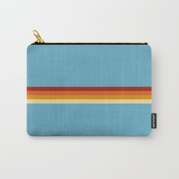 Losna - Classic Retro Summer Stripes Carry-All Pouch