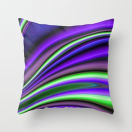 Abstract Fractal Colorways 01PL Throw Pillow