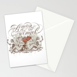 Demon or angel Stationery Cards