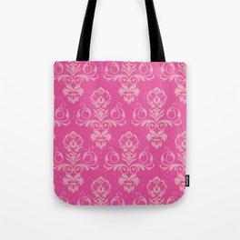 Pink Vintage Damask Tote Bag