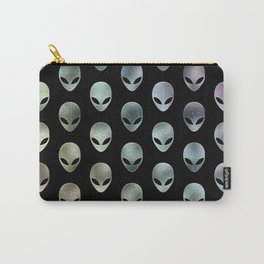 Grey Alien Rainbow Carry-All Pouch