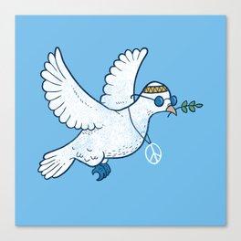 Hippie Dove Canvas Print
