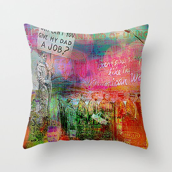 Slice of America 7 Throw Pillow