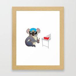 Koalalfied to Party Funny Drinking T-shirt Framed Art Print