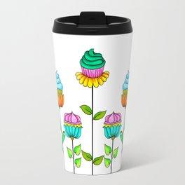 Cupcake Flowers Travel Mug