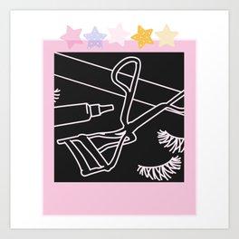 Curl 'Em Up Art Print