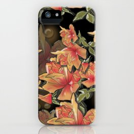 Yellow roses . Imitation glass .3D/ iPhone Case