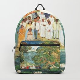 African American Masterpiece 'Baptism at Aquia Creek' by Palmer Hayden Backpack