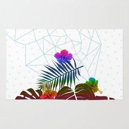 Vibrant Tropical Geometric Rug