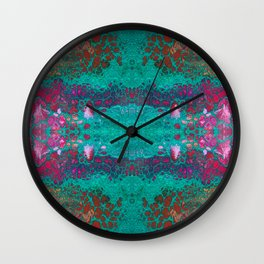 Fragmented 45 Wall Clock
