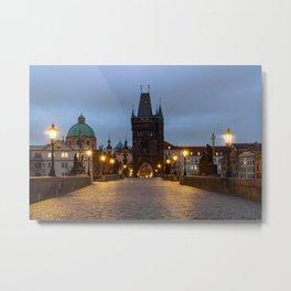 Charles bridge in Prague Metal Print