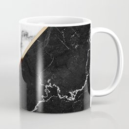 Elegant Silver Marble with Bronze Lining Coffee Mug