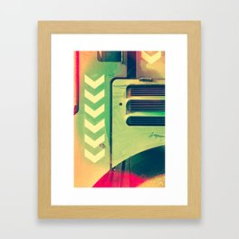 Road Roller Chevron 02 - Industrial Abstract (everyday 18.01.2017) Framed Art Print