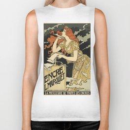 Belle Epoque vintage poster, Encre Biker Tank
