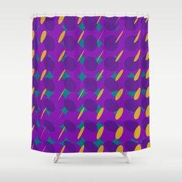 elipse grid pattern_purple,mustard02 Shower Curtain