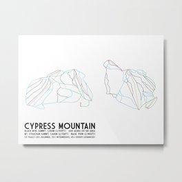 Cypress Mountain, BC, Canada - Minimalist Trail Art Metal Print