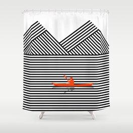 Geometric Landscape Shower Curtain