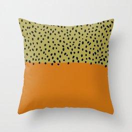 Abstract orange mid century art Throw Pillow