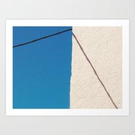 minimal santorini Art Print