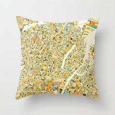 COPENHAGEN MAP Throw Pillow