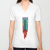 hotline miami V-neck T-shirts featuring Hotline Miami 2 by Jarvis Glasses