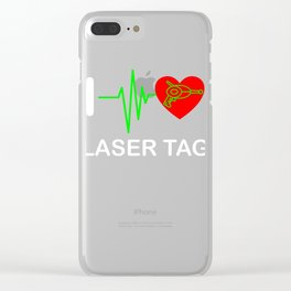 Funny Laser Tag Party T-Shirt Mode On I love laser tag Clear iPhone Case