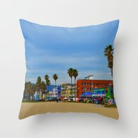 boardwalk empire Throw Pillows featuring Boardwalk by Life Of A Lens Studios