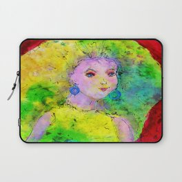 Green Hair Don't Care Laptop Sleeve