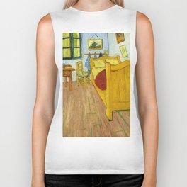 1888-Vincent van Gogh-The Bedroom-72x90 Biker Tank
