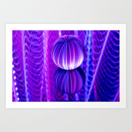 crystal ball reflect in red and blue. Art Print