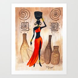 African red Art Print