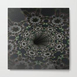 Dark Abyss Tubular Mandalas 8 Metal Print