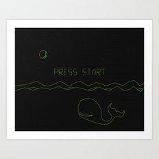 Whalezone Art Print