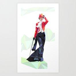 Polygone lady 1 Art Print