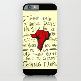 The Catcher In The Rye - Holden's Red Hunting Cap iPhone Case