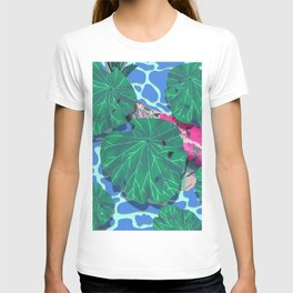 Pink Koi under Lilly Pads T-shirt