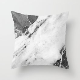 Titan River Black Throw Pillow