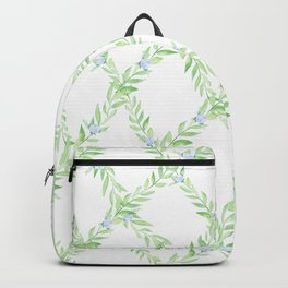 Blueberry Garland Pattern Backpack