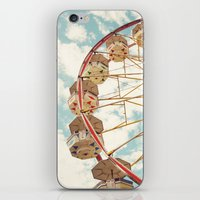 ferris wheel iPhone & iPod Skins featuring ferris wheel by Sylvia Cook Photography