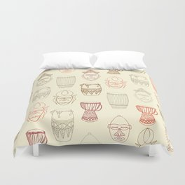 African drums and masks Duvet Cover