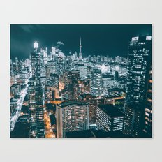 Toronto in the dark Canvas Print